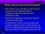 notes about aircraft documents1