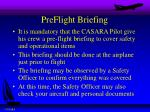 preflight briefing