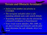 terrain and obstacle avoidance