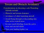 terrain and obstacle avoidance1