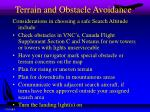 terrain and obstacle avoidance2