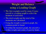 weight and balance using a loading graph