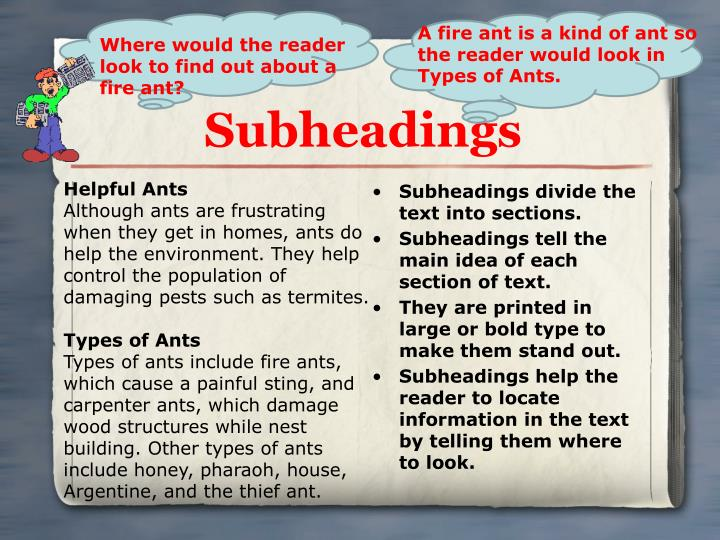 Subheadings divide the text into sections.