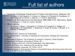 full list of authors