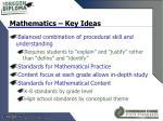mathematics key ideas