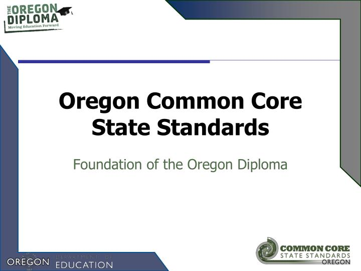 oregon common core state standards n.