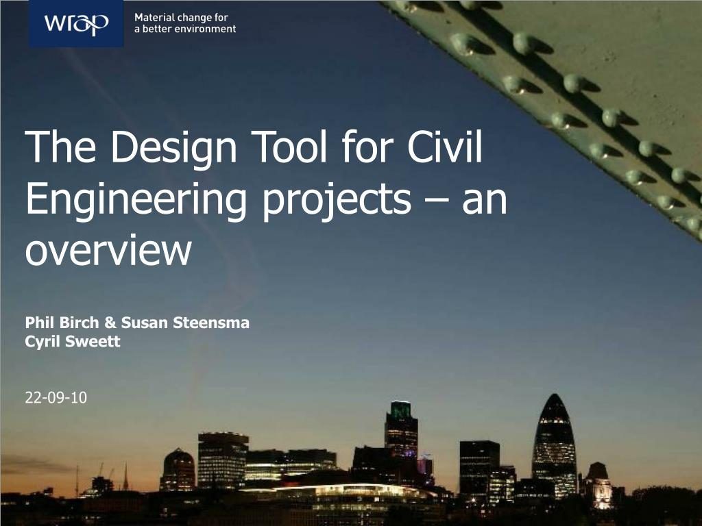 Ppt The Design Tool For Civil Engineering Projects An Overview Powerpoint Presentation Id 3917912