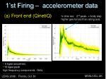 1 st firing accelerometer data