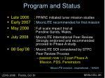 program and status