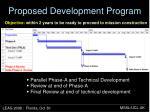 proposed development program