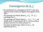 convergence de l n