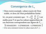 convergence de l n1