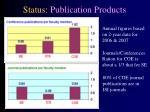 status publication products