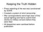 keeping the truth hidden