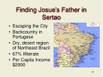 finding josue s father in sertao
