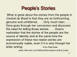 people s stories