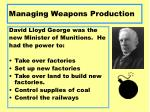 managing weapons production1