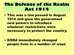 the defence of the realm act 1914