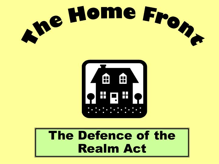 the defence of the realm act n.