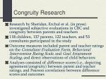congruity research