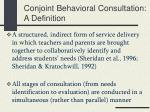 conjoint behavioral consultation a definition