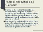 families and schools as partners