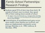 family school partnerships research findings