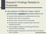 research findings related to outcomes1