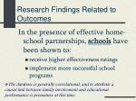 research findings related to outcomes3