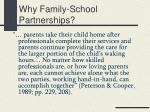 why family school partnerships