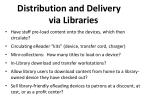 distribution and delivery via libraries