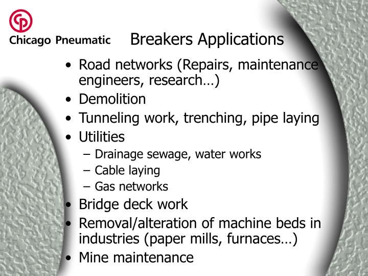 Breakers Applications