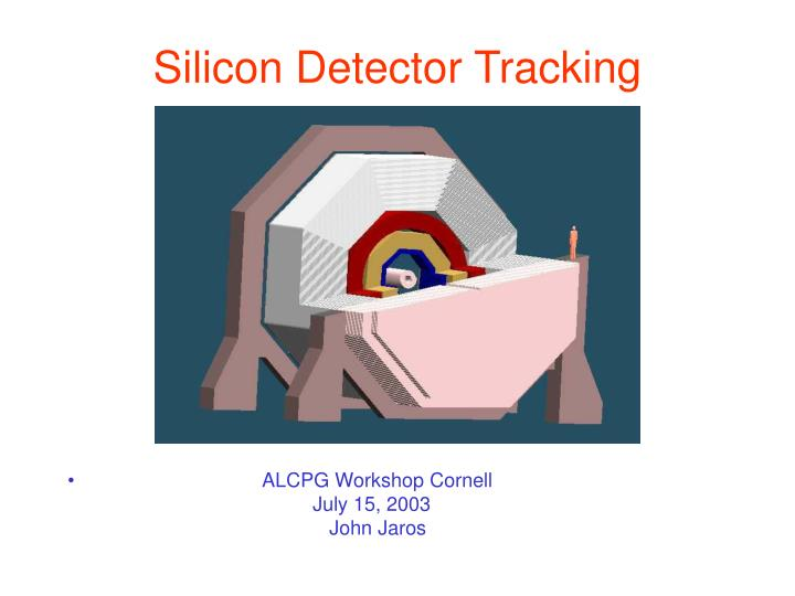 silicon detector tracking n.