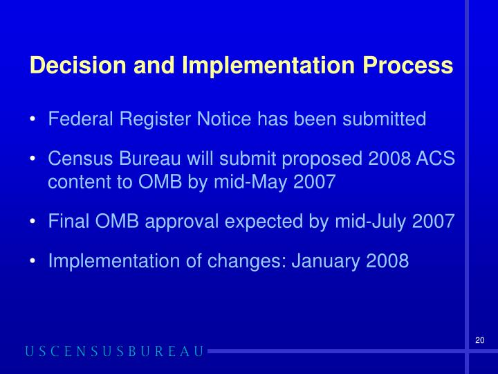 Decision and Implementation Process