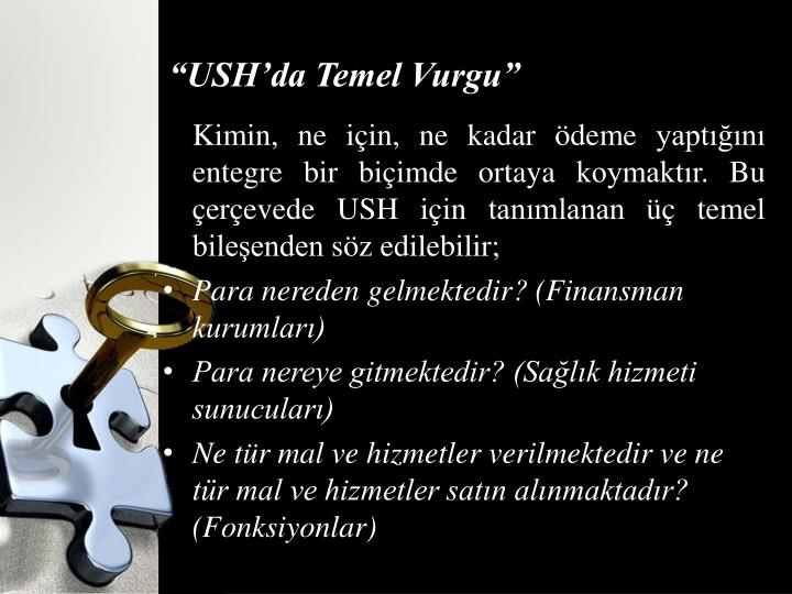 """USH'da Temel Vurgu"""