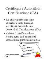 certificati e autorit di certificazione ca