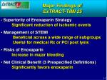 major findings of extract timi 25