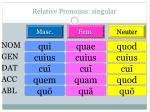 relative pronouns singular