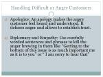 handling difficult or angry customers