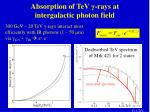 absorption of tev rays at intergalactic photon field