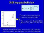 still log parabolic law