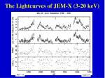 the lightcurves of jem x 3 20 kev