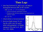time lags