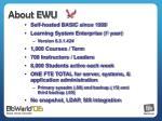 about ewu