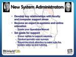new system administrators