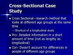 cross sectional case study