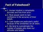 fact of falsehood