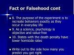 fact or falsehood cont1