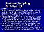 random sampling activity cont