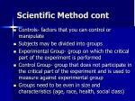 scientific method cont1